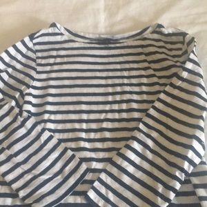 3/4 length sleeve striped top